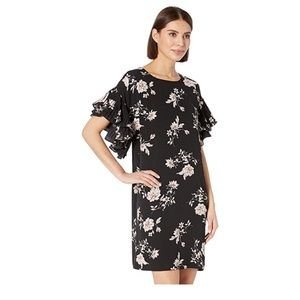 CeCe - Spring bouquet rich black dress
